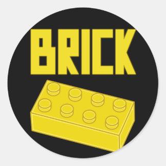 Yellow Brick by Customize My Minifig Round Sticker