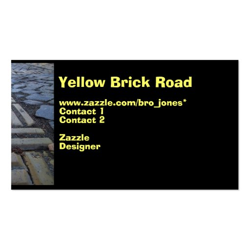 Yellow Brick Road Business Card Templates