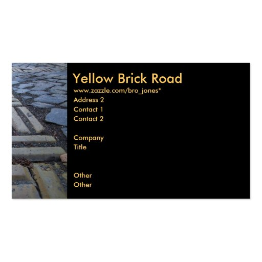 Yellow Brick Road Business Card Template