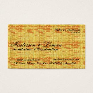 Yellow Brick Wall  Builder Construction Business Card