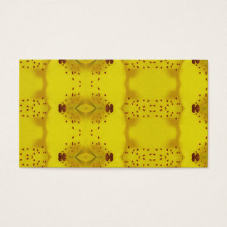 Yellow bright pattern business card