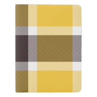 Yellow/Brown/Beige Plaid Large Custom Journal