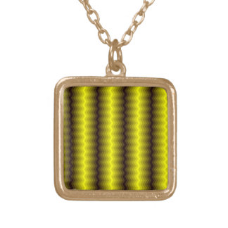 Yellow-brown zigzag necklace