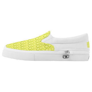 YELLOW BUBBLE SLIP ON PRINTED SHOES