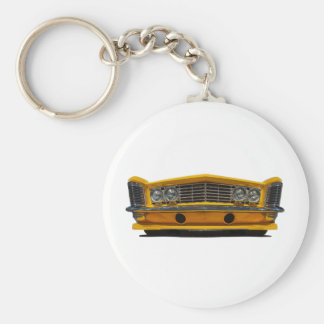 Yellow Buick Basic Round Button Key Ring