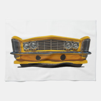 Yellow Buick Kitchen Towel