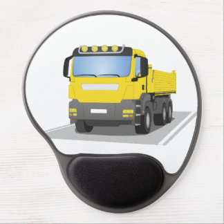 yellow building sites truck gel mouse pad