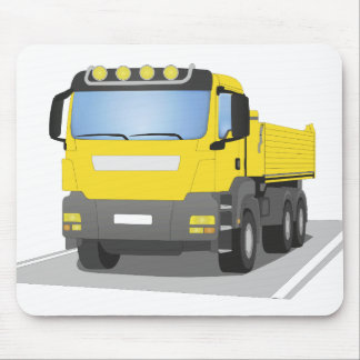 yellow building sites truck mouse pad