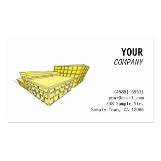 Yellow buildings in perspective business card