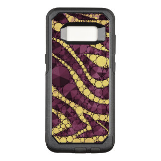Yellow Burgundy Zebra Bling OtterBox Commuter Samsung Galaxy S8 Case