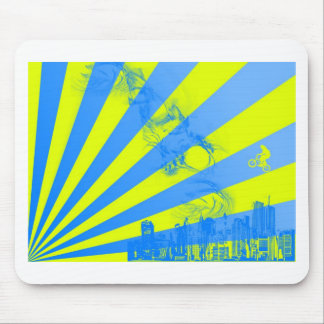 Yellow Burst Mouse Pads