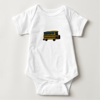 yellow bus baby bodysuit