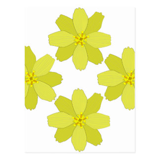 Yellow Bush Flowers Postcard