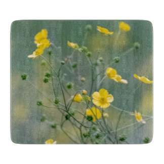 Yellow buttercups cutting board