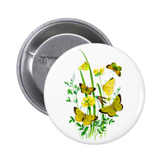 Yellow Butterflies and Yellow Wildflowers Pin