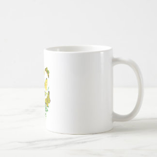 Yellow Butterflies and Yellow Wildflowers Coffee Mugs