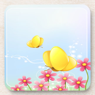 Yellow Butterflies Coasters