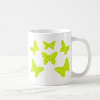 Yellow Butterflies Pattern Mugs