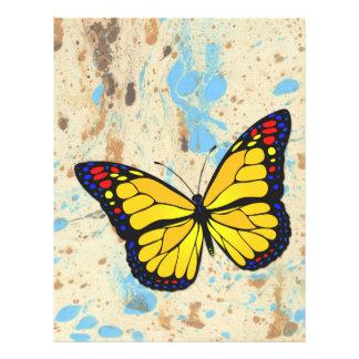 Yellow butterfly 21.5 cm x 28 cm flyer