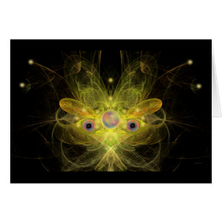 Yellow Butterfly Angel Greeting and Note Card