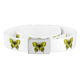 yellow butterfly belt
