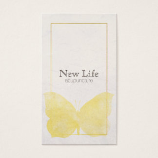 Yellow Butterfly Business Card