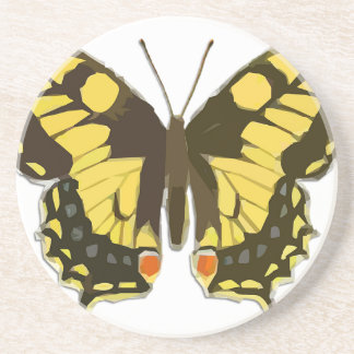 Yellow Butterfly Coaster