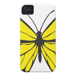 Yellow Butterfly Drawing Case-Mate iPhone 4 Case