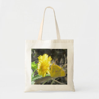 Yellow Butterfly Feeding on Yellow Flower Bag