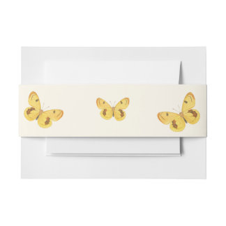 Yellow Butterfly - Fine Art Invitation Belly Band