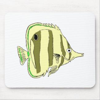 Yellow Butterfly Fish Mousepad