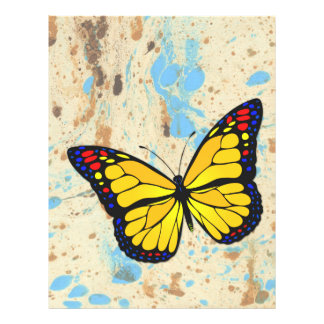 Yellow butterfly flyer