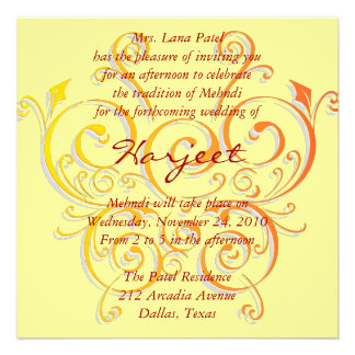 Yellow butterfly invite