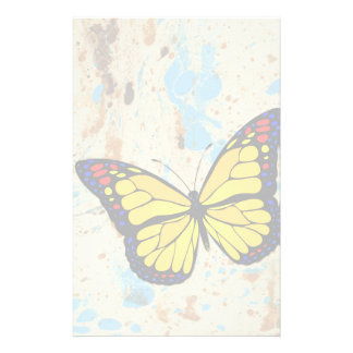 Yellow butterfly stationery