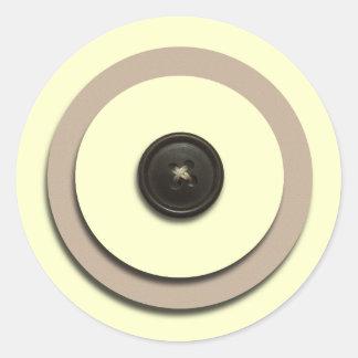 Yellow Buttons Brackets Envelope Seals Sticker