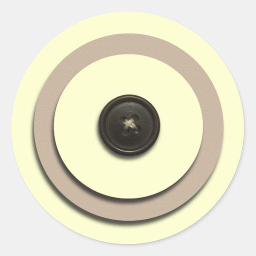 Yellow Buttons & Brackets Envelope Seals Sticker