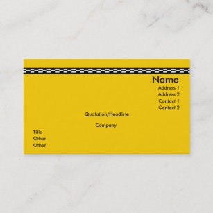 Yellow Cab Business Card