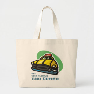 Yellow cab cartoon: Not your average taxi driver Jumbo Tote Bag