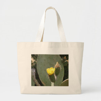 Yellow Cactus Flower Tote Bags