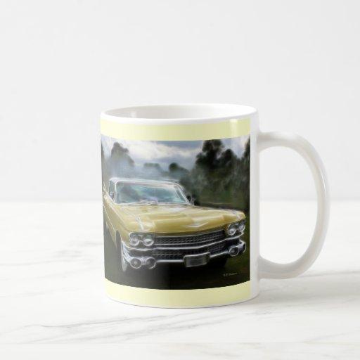 Yellow Cadillac Coffee Mugs