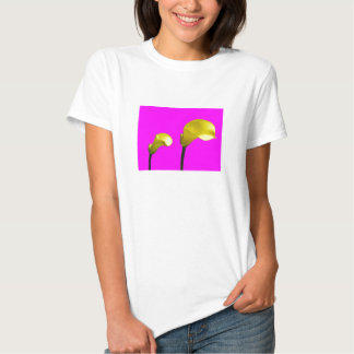 Yellow Calla Lily with Hot Pink Tshirt