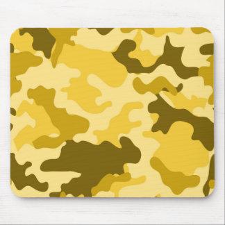 Yellow Camo Mousepad