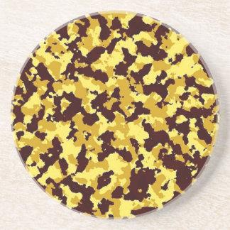 Yellow Camouflage Coaster