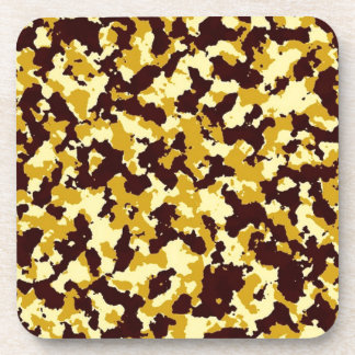 Yellow Camouflage Coaster