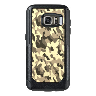 Yellow Camouflage style Samsung Cases