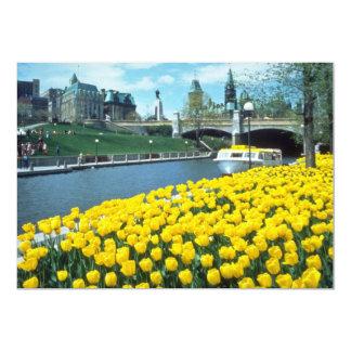 yellow Canadian Tulip Festival, Rideau Canal, Otta Custom Invitation