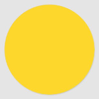 Yellow Canary Solid Color - Customizable Round Sticker