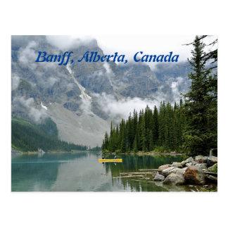 Yellow Canoe, Banff, Alberta, Canada Postcard