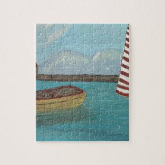 Yellow Canoe Large Jigsaw Puzzle