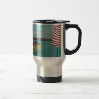 Yellow Canoe Large Travel Mug